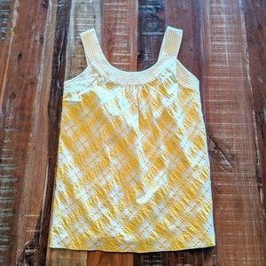 Lily Pulitzer White and Yellow GinghamTank Top